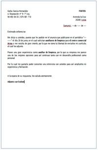 ejemplo de cartas de presentacion para un trabajo