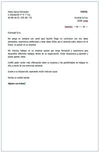 Carta De Presentacion Ejemplos Y Modelos De Cartas De