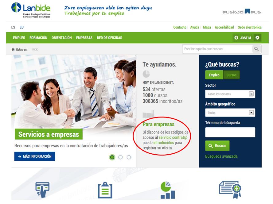 Contratos empresas for Oficina electronica sepe